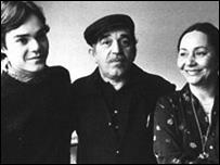 Gabriel García Márquez y familia