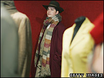 The Doctor Who outfit previously worn by Tom Baker