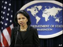 La secretaria de Estado de Estados Unidos, Condoleezza Rice, presentó el informe.