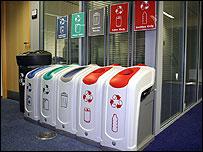 Recycling bins (Image: BBC)