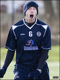 Kirk Broadfoot in training with St Mirren