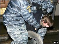 Во время разгона одного из пикетов в Москве