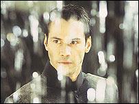 Keanu Reeves en la película Matrix