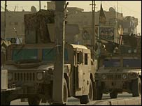 US humvees in Baghdad's Sadr City