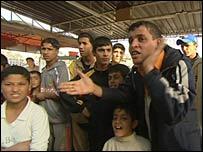 Iraqis in Baghdad's Sadr City