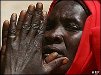 A displaced woman in Sudan's Darfur region