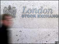 London Stock Exchange sign