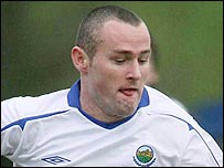 Conor Downey of Linfield