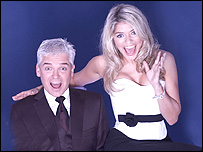 Dancing on Ice presenters Philip Schofield and Holly Willoughby
