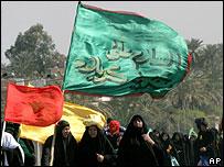 Shia pilgrims heading to Karbala