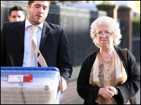 Patricia Tabram arriving at Carlisle Crown Court