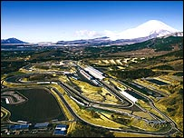 Fuji Speedway with Mount Fuji in the background