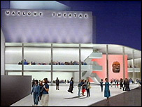 Artist's impression of the new Marlowe Theatre