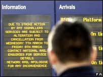 Notice board at Central Station