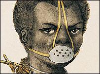 Bozal: imagen de uno de los instrumentos de castigo de esclavos en Brasil (Gentileza: Museo Afro de Sao Paulo)