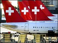 Swissair tailplanes