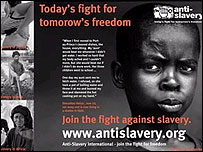 Anti-slavery international poster