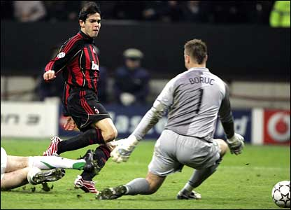 Kaka scores for AC Milan