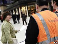 ScotRail staff keep passengers informed of changes