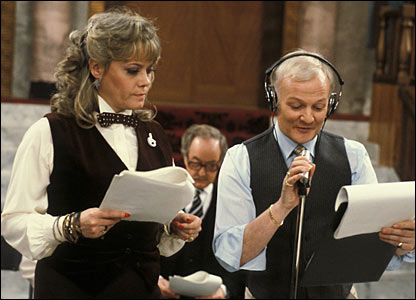 Wendy Richards and John Inman
