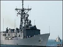 US navy ships - file photo