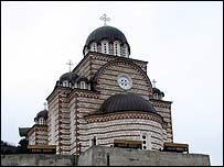 Mitrovica's new Serbian Orthodox church of St Demetrios