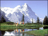 The Eiger mountain in Switzerland