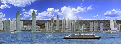 Liverpool's proposed new skyline (pic courtesy of Peel)