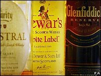 Leading scotch whisky brands such as Dewar's and Glenfiddich