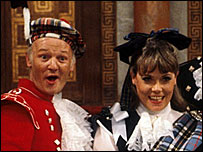John Inman and Wendy Richard