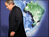 President Bush on a visit to Brazil in 2005