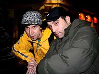 Ramon Jim�nez y Dj Panko, integrantes de la agrupaci�n Ojos de Brujo.