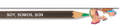 Diseño con lápices para el título de la primera entrada del blog