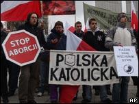 Poland anti-abortion demo