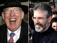 Ian Paisley (l) and Gerry Adams (r)