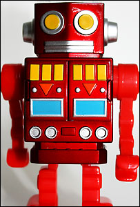 Old-fashioned robot toy