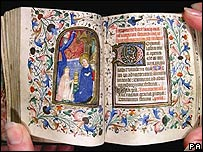 A book of hours auctioned by Duke of Dorchester Auctioneers