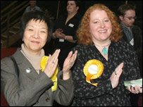 Anna Lo (left) and Naomi Long of the Alliance Party