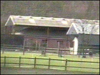 The bungalow was built inside a barn