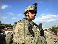 A US soldier in Iraq