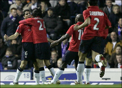 Raul Garcia celebrates his goal