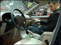 Interior of Brilliance car