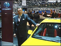 Professor Hans-Ulrich Sachs with Brilliance car