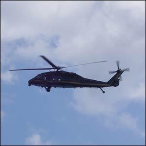 Helicóptero participando en la Operación Centinela Vigilante. (Foto: J. Aparisi)