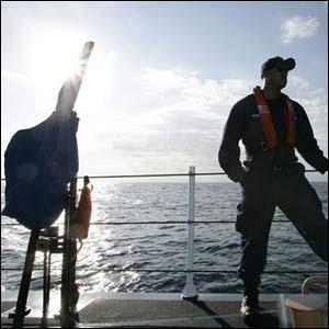 Guardacosta estadounidense en ejercicio de simulacro en la Florida.