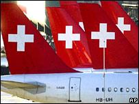 Swissair tail fins