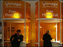 Vonage promotional booth