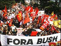 Sao Paulo protest march