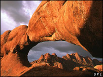 Rocks pictured at Spitzkoppe, Namibia (SPL)