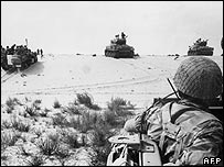 Israeli troops in 1967 war